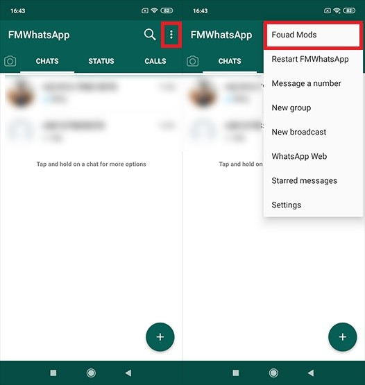 WhatsApp Application Transparent Method 1 C10e1