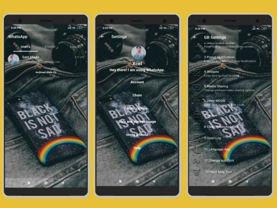 WhatsApp Transparent Gb F1785 application