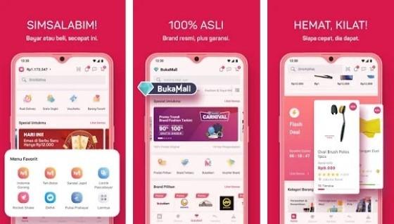 The Bukalapak 9811f application