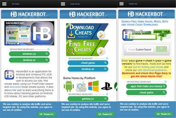 Cheat Hackerbot C1ea8 application
