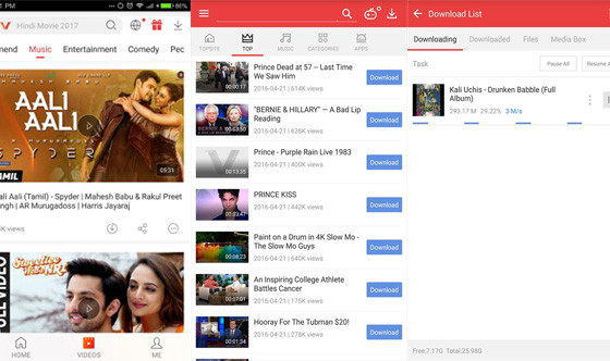 Applications to download songs Vidmate D24a5