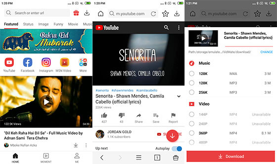 Application to Download Youtube Vidmate 541e0