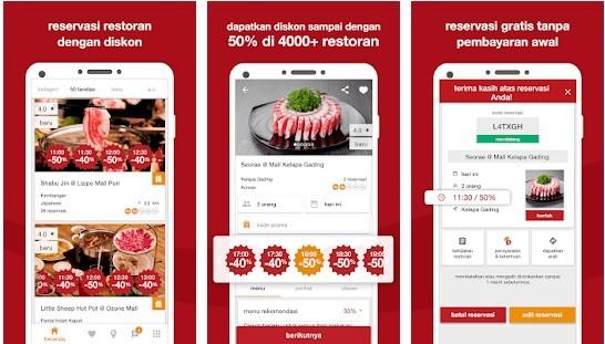 The Eatigo 745ba application
