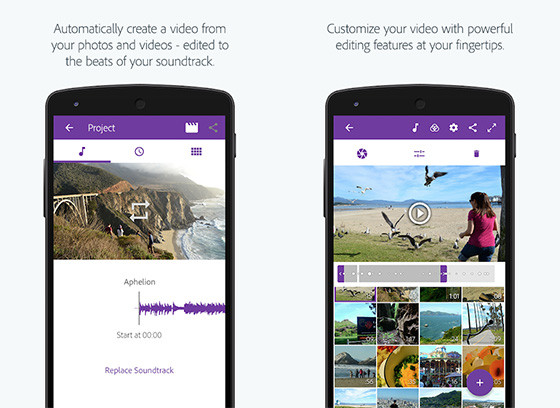 Adobe Premiere Clip Android Video Edit Application 468a1