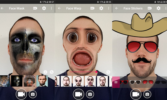 Funny Face Changer A8530 Video Editing Application