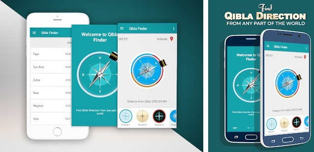 The 843d4 Find Qibla Direction application