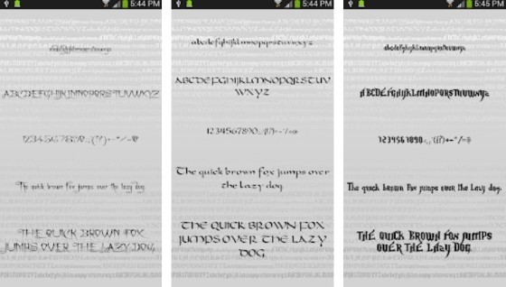 Android Font Application 10 30872