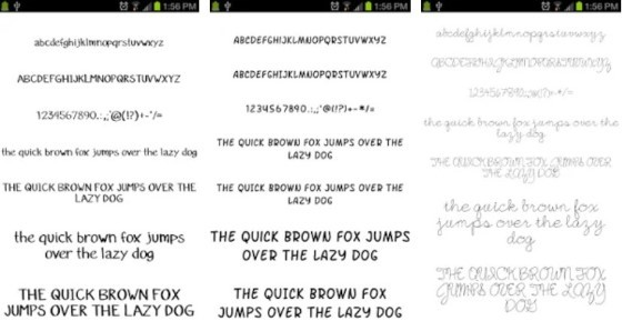 Android Font Application 11 326fc
