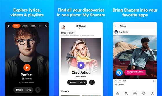 Shazam 254bf Online Song Lyrics Application