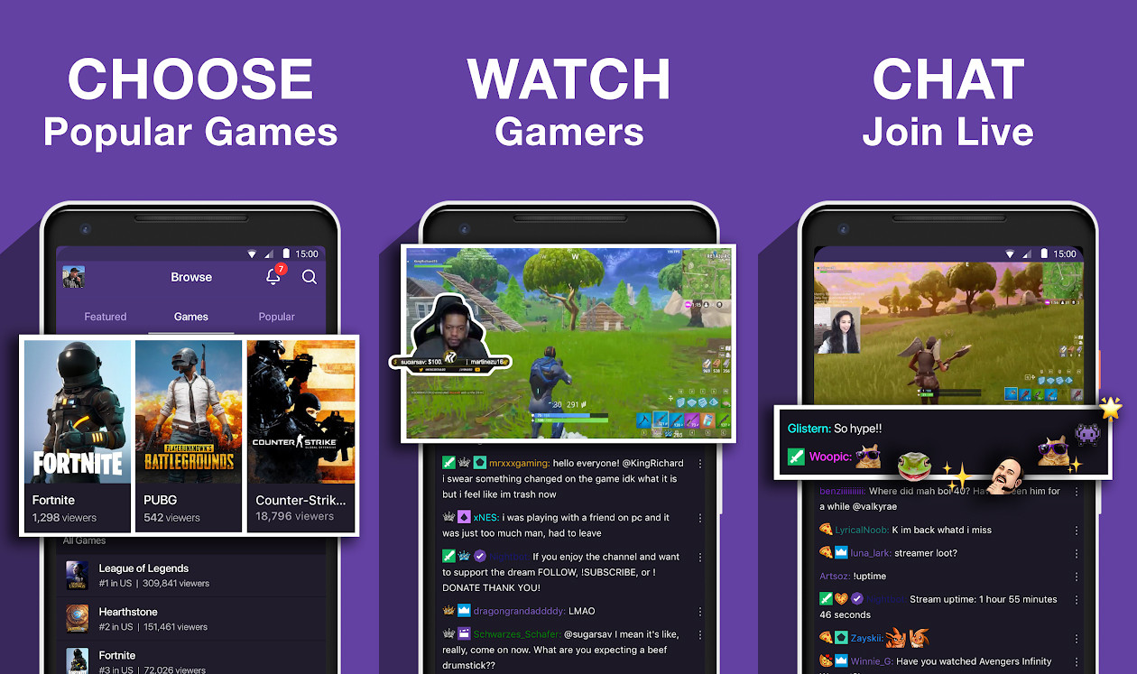 Twitch D896c Live Streaming Game Application