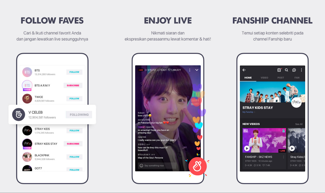 Vlive B6012 Live Streaming Application