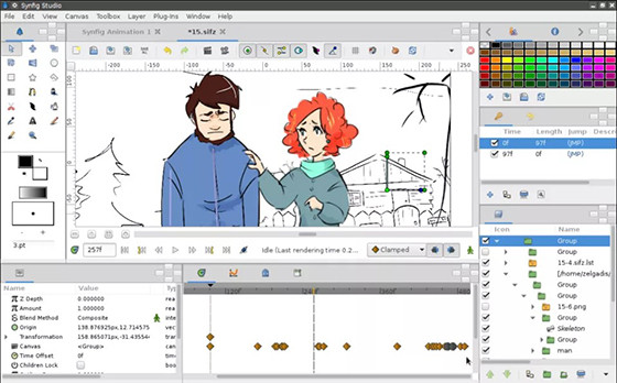 Application to Make Animated Videos on Synfig Studio 3c3ac Laptop