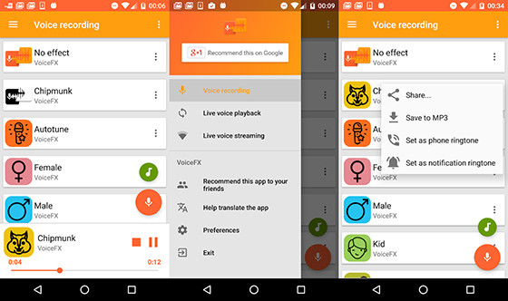 Voicefx 9dc64 Android Voice Changer Application