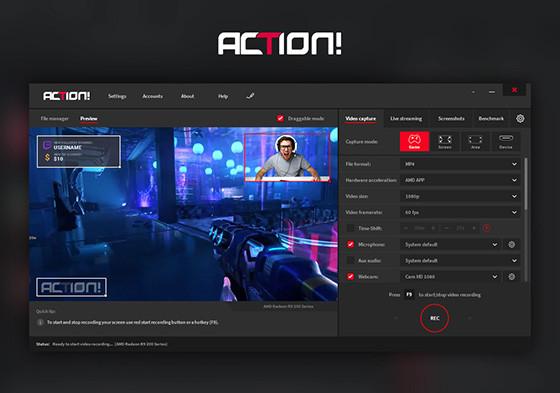 Action Laptop Screen Recorder Application B910d