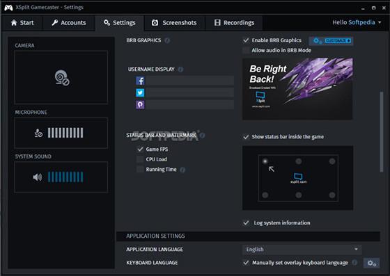 Xsplit 60c26 Screen Recorder application