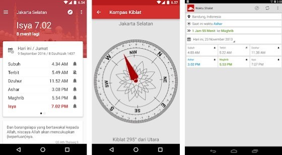 Application of Ruling Prayer Times and Qibla Fc107