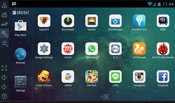 Lightweight Android RAM 1gb Droid4x 304cf emulator