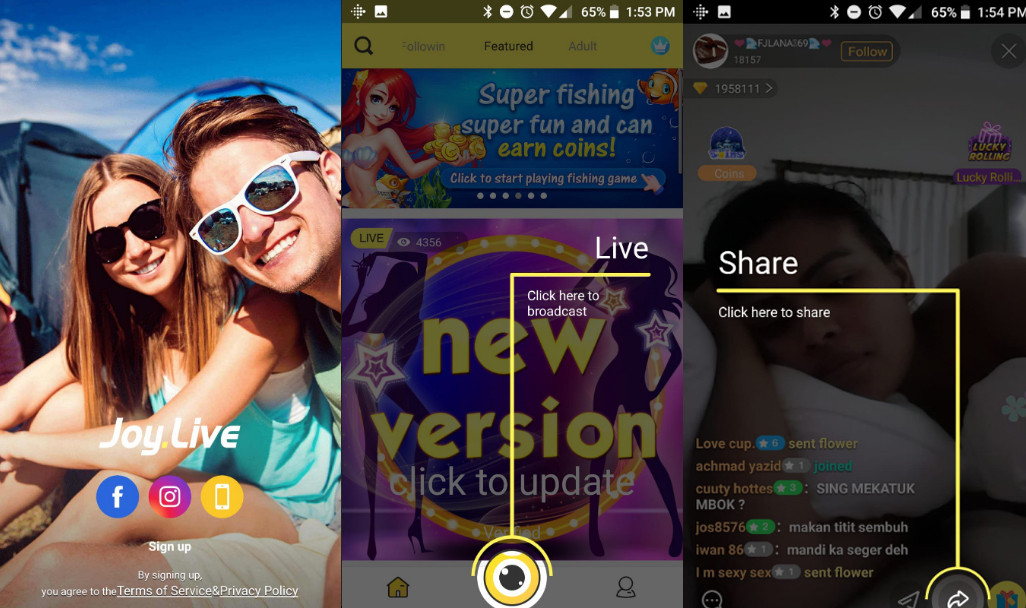 Joylive Adult Application Is Not On The C4810 Play Store
