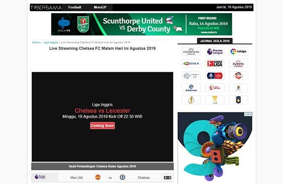 Indonesian Soccer Streaming Site 01e3a