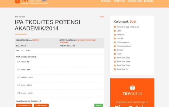 Tryout Online Tryoutid 81637