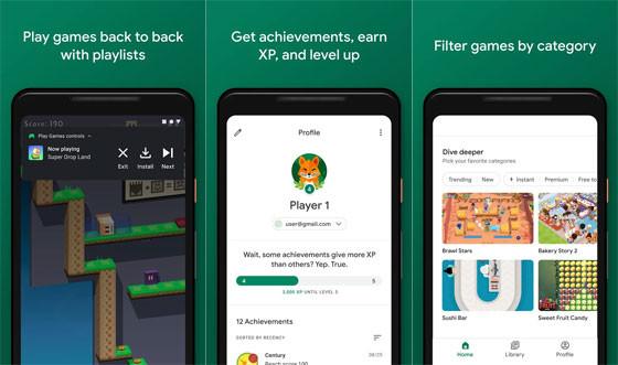 Google Play Games Screen Recorder Application