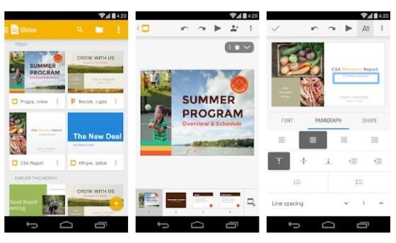 E2a7e Android Presentation Application