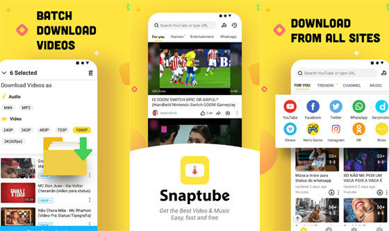 Snaptube F031e Video Download Application