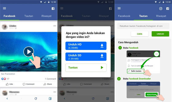 Debf4 Facebook Video Download Application